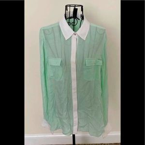 White House black market 100%silk blouse